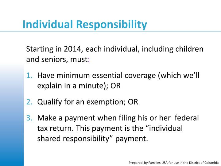 Starting in 2014, each individual, including children and seniors, must