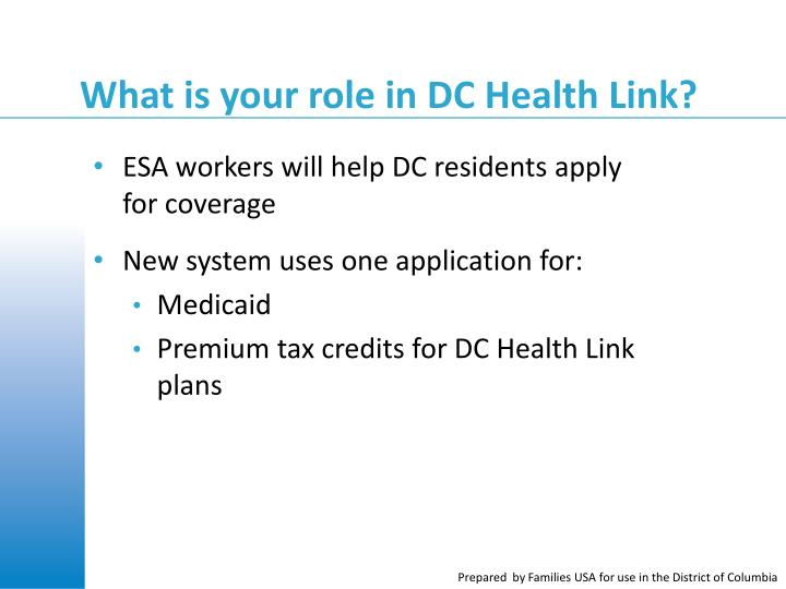 What is your role in DC Health Link?