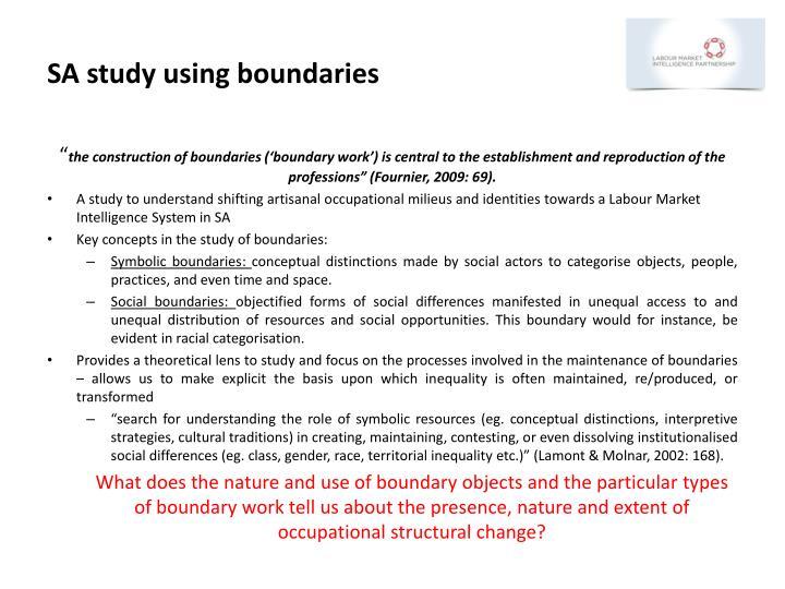 SA study using boundaries