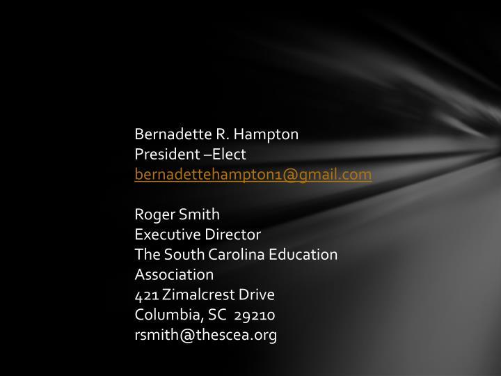 Bernadette R. Hampton