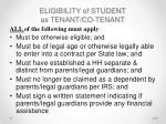 eligibility of student as tenant co tenant