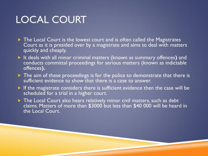 Local court
