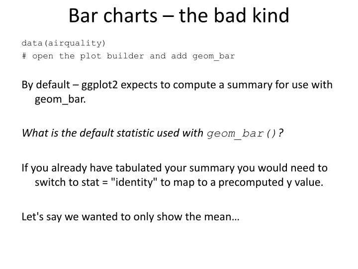 Bar charts – the bad kind