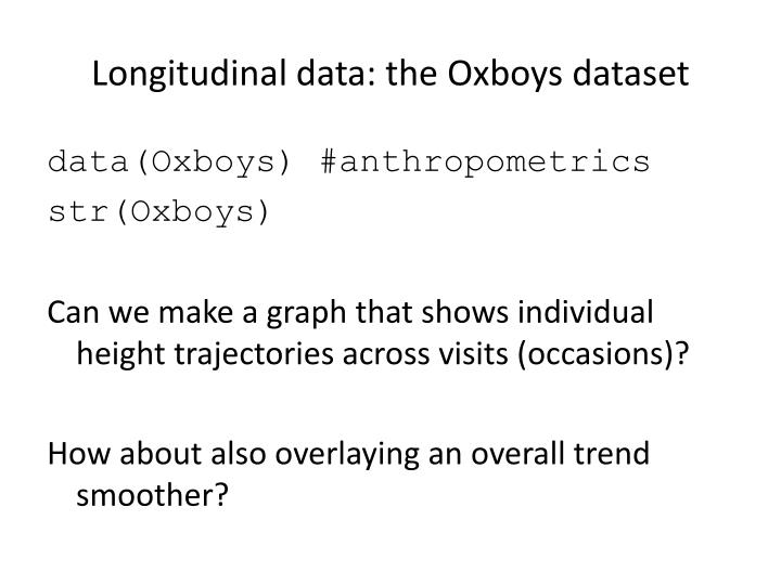 Longitudinal data: the
