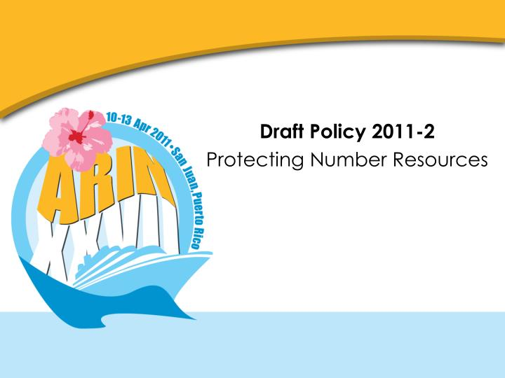 Draft Policy 2011-2