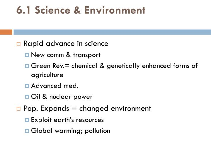 6.1 Science & Environment