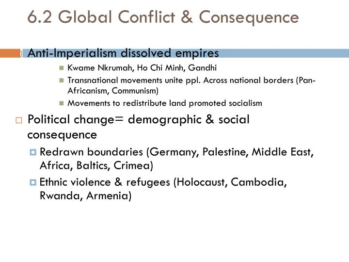 6.2 Global Conflict & Consequence