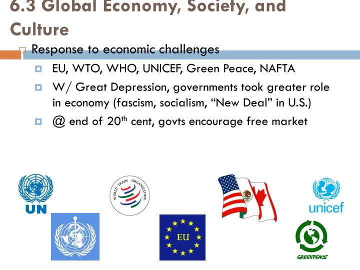 6.3 Global Economy, Society, and Culture