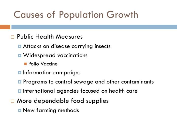 Causes of Population Growth