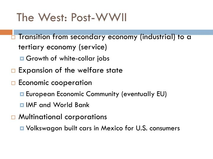 The West: Post-WWII