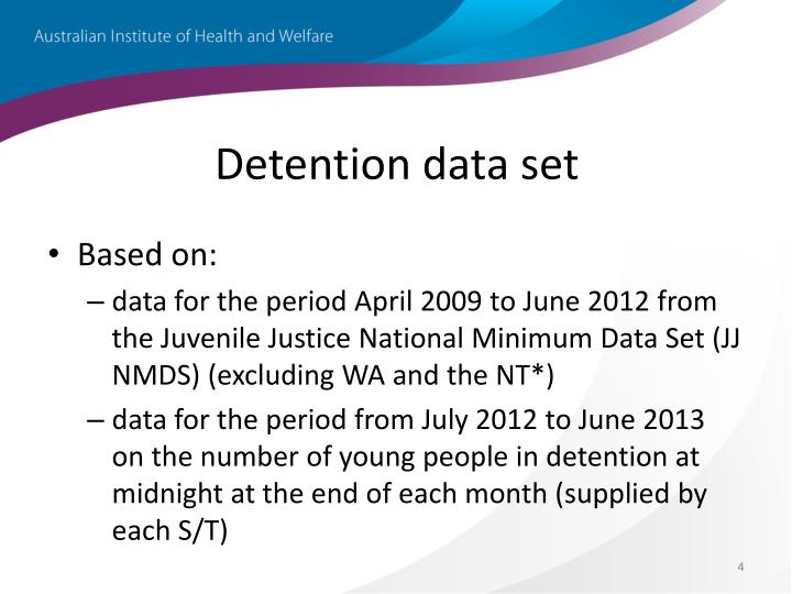 Detention data set