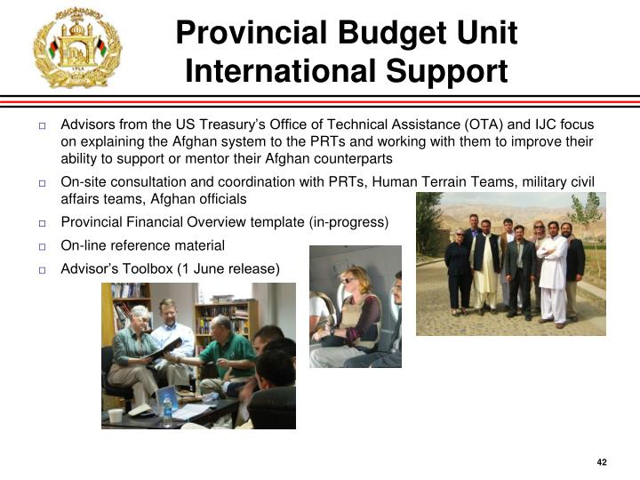 Provincial Budget Unit