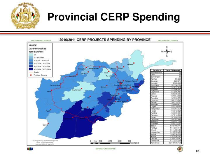 Provincial CERP Spending