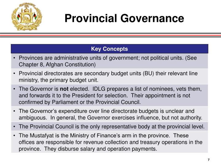 Provincial Governance