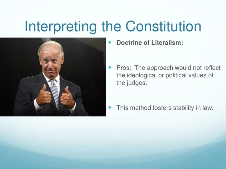 Interpreting the Constitution