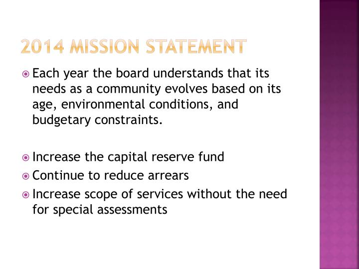 2014 Mission Statement