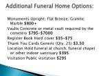 additional funeral home options
