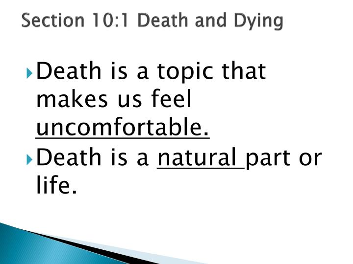 Section 10 1 death and dying
