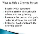 ways to help a grieving person