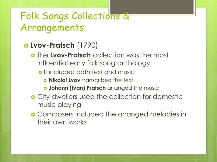 Folk Songs Collections & Arrangements