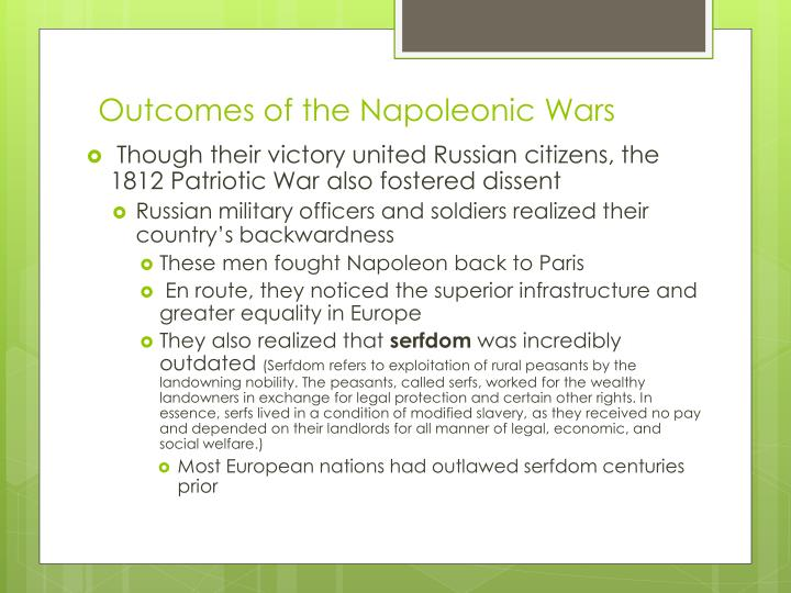 Outcomes of the Napoleonic Wars