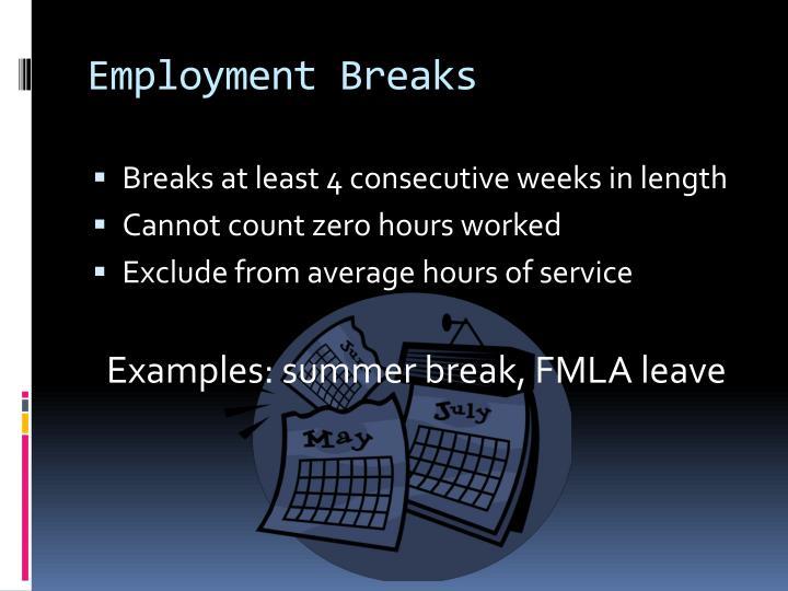 Employment Breaks
