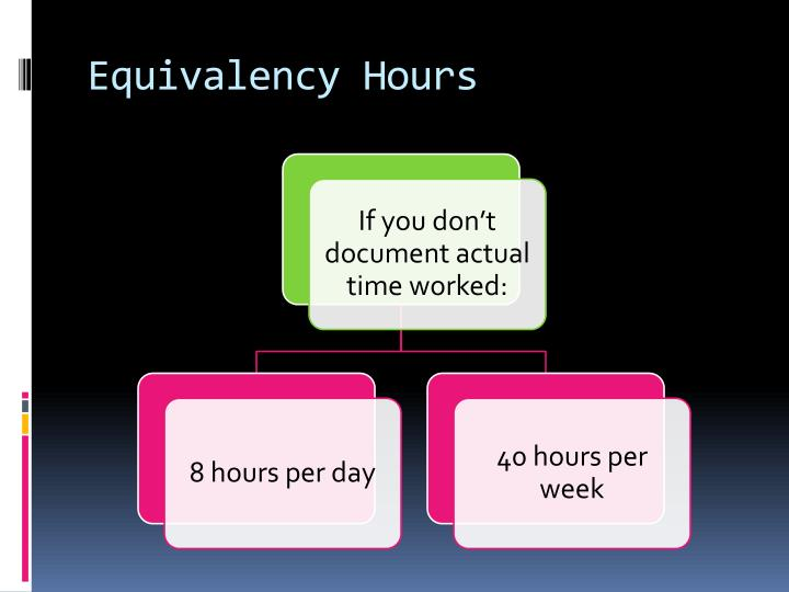 Equivalency Hours