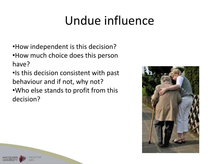 Undue influence