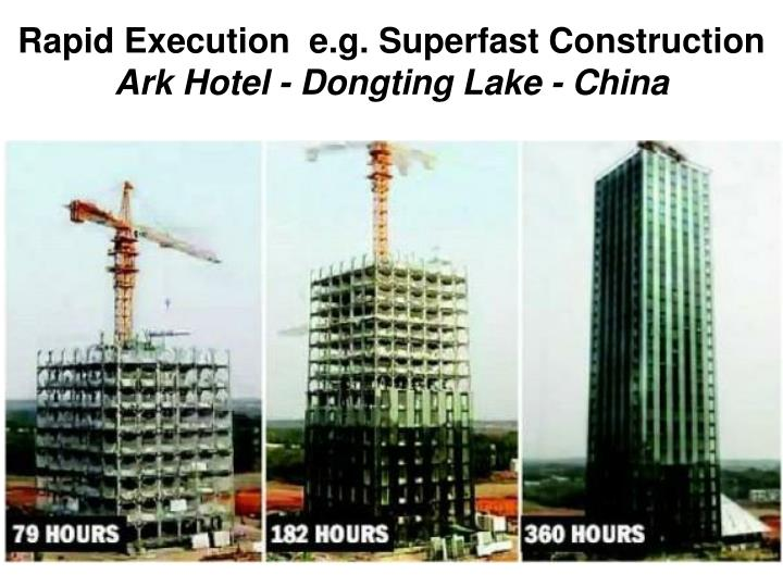 Rapid Execution  e.g. Superfast Construction