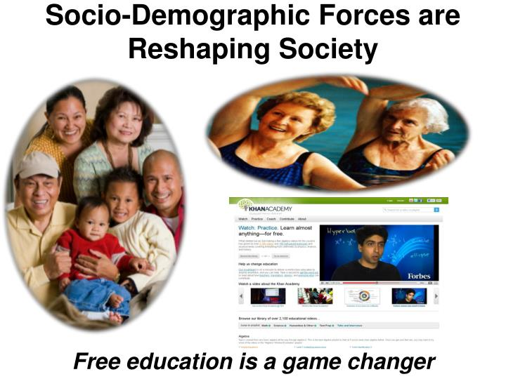 Socio-Demographic Forces are Reshaping Society