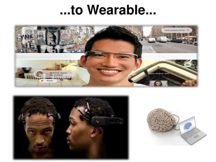 ...to Wearable...