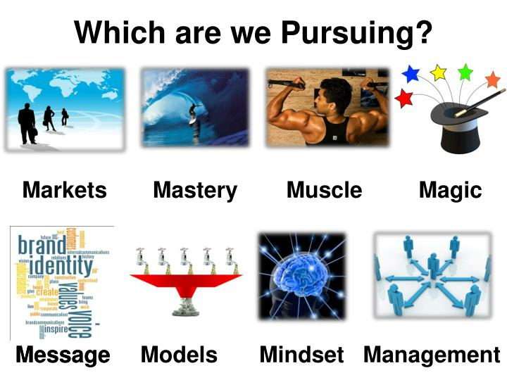 Which are we Pursuing?