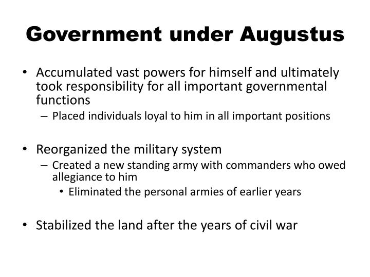 Government under Augustus