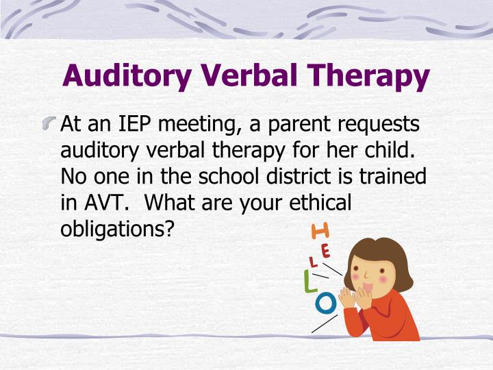 Auditory Verbal Therapy