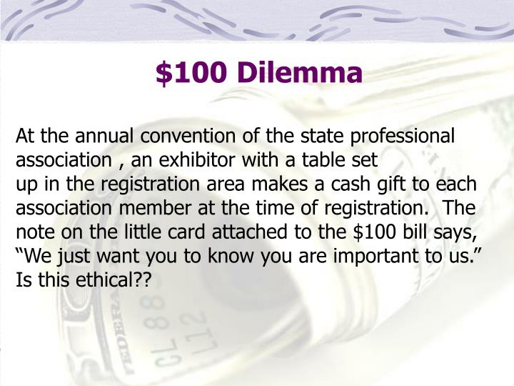 $100 Dilemma