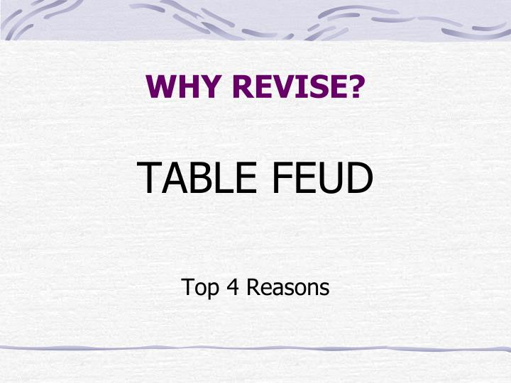WHY REVISE?