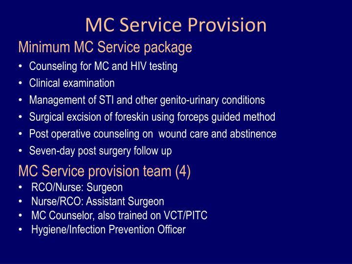 MC Service Provision