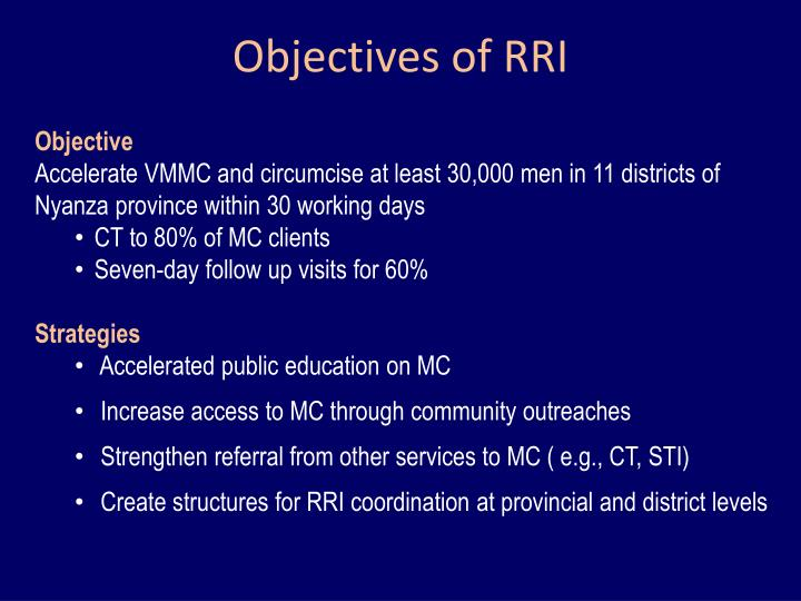 Objectives of RRI