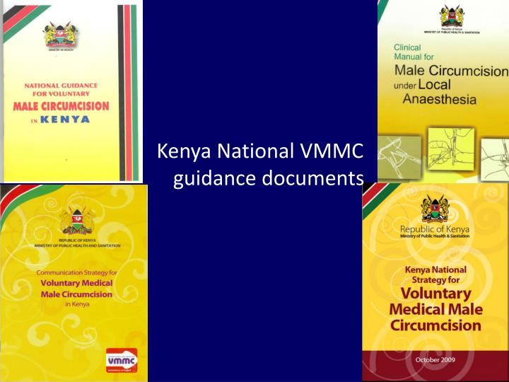 Kenya National VMMC guidance documents
