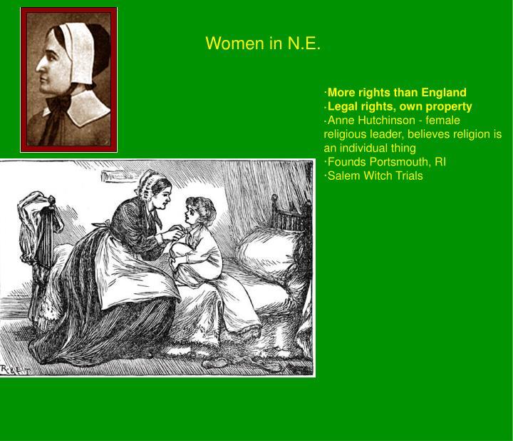 Women in N.E.