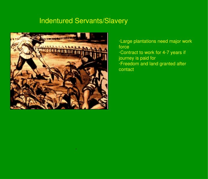 Indentured Servants/Slavery