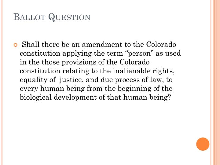 Ballot Question