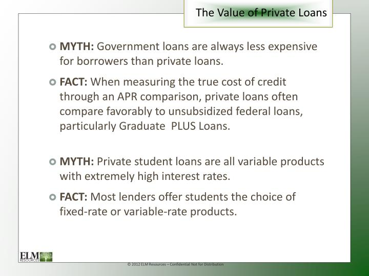 The Value of Private Loans