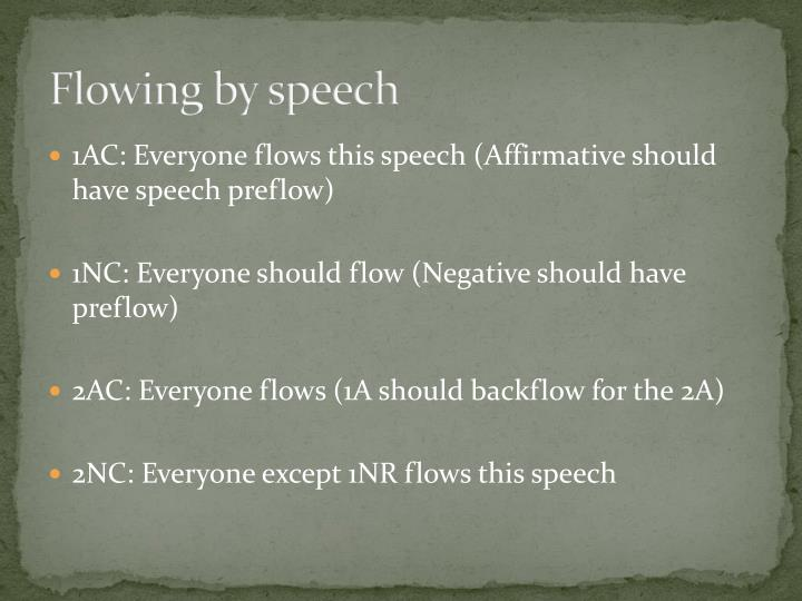Flowing by speech