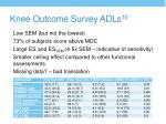 knee outcome survey adls 10