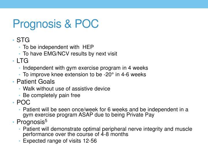 Prognosis & POC