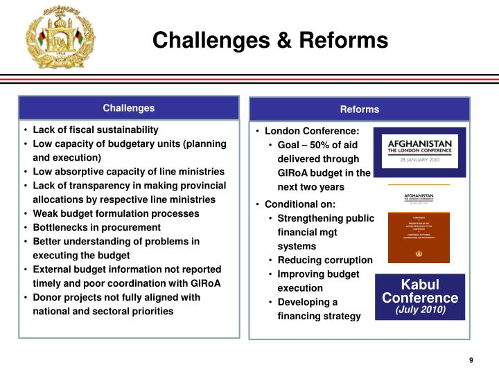 Challenges & Reforms