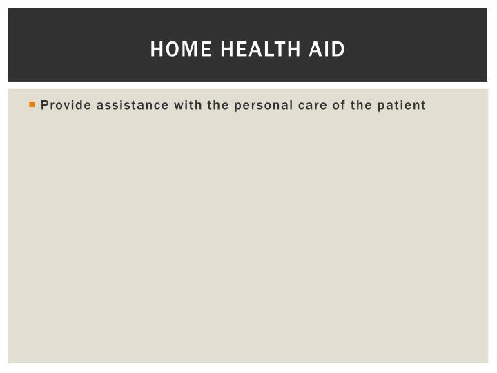 Home Health Aid