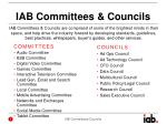 iab committees councils
