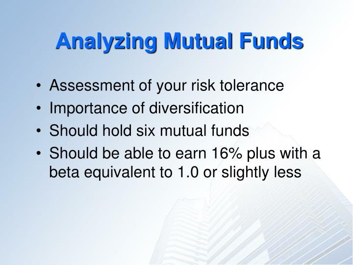Analyzing Mutual Funds